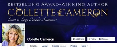 custom facebook banner for collette cameron